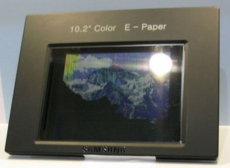 Цветная электронная бумага с поддержкой видео