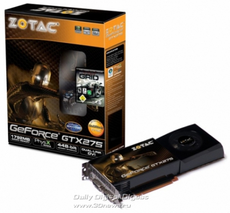 Zotac GeForce GTX 275 в версии с 1792 Мб памяти