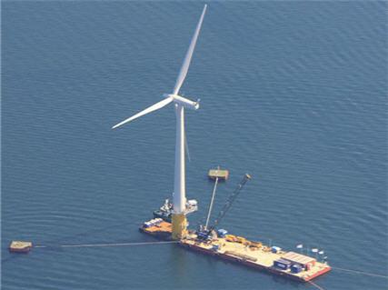 Первый в мире плавучий ветряк Hywind уже в работе уже в работе