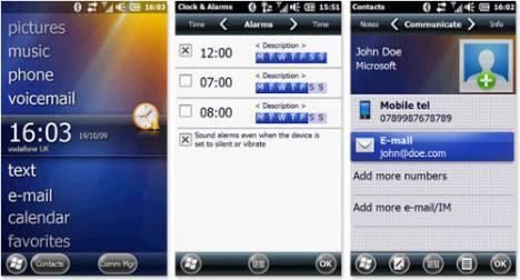 Скриншоты операционной системы Windows Mobile 6.5.1