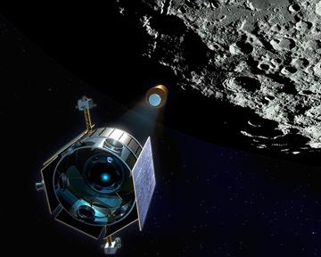 НАСА обнаружило воду в кратере Луны