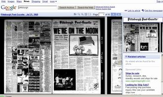 Google открывает газетный архив on-line