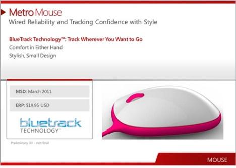 Появились изображения мыши Microsoft Metro